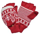 San Diego Hat Company Women's Snowman Pattern Pop Over Fingerless Glove KNG3476