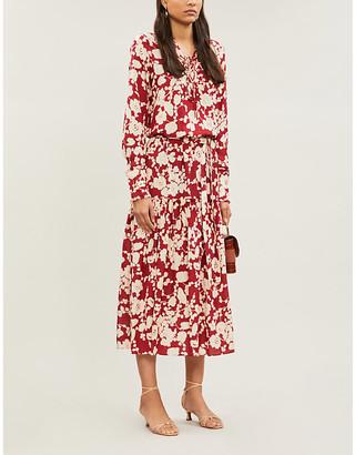 Alexis Ambrosia floral-jacquard midi dress