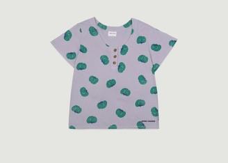 Bobo Choses Tomatoes Print Organic Cotton Buttoned T Shirt - XS