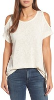 Bobeau Women's Cold Shoulder Slub Knit Tee