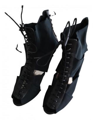 Gianvito Rossi Black Tweed Boots