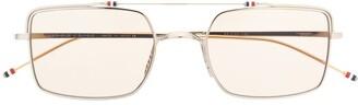 Thom Browne Eyewear retro style square sunglasses