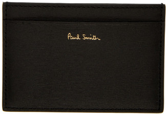 Paul Smith Black Straw Grained Card Holder