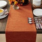 "Crate & Barrel Grasscloth 90"" Orange Table Runner"