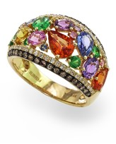 Effy Jewelry Effy Watercolors 14K Yellow Gold Multi Sapphire & Diamond Ring, 4.00 TCW