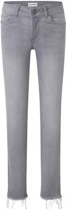 DL1961 Girl's Chloe Raw Hem Skinny Denim Jeans, Size 7-16