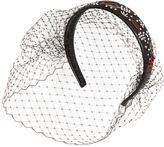 RED Valentino Embellished Leather Headband W/ Veil