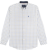 Joules Wilby Classic Fit Oxford Shirt, Blue Overcheck