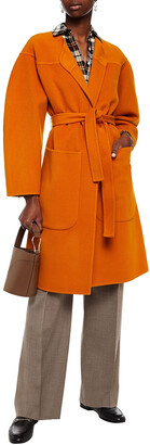 See by Chloe Belted Wool And Cashmere-blend Felt Coat