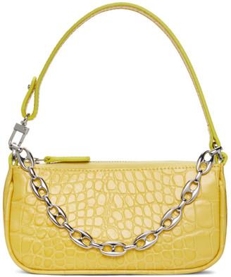 BY FAR Yellow Croc Mini Rachel Bag