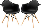 Modway Set Of 2 Pyramid Dining Side Chairs