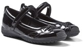 Geox Shadow Patent Black Leather Mary Janes