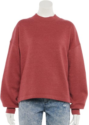 So Juniors' Long Sleeve Mock Neck Sweatshirt