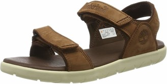 Timberland Nubble Leather 2 Strap (Toddler) Unisex Kids' Open Toe Sandals