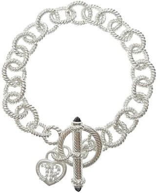 """Judith Ripka Sterling 7-3/4"""" Link Toggle Bracelet"""