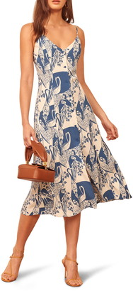 Reformation Gemstone Sleeveless Midi Dress