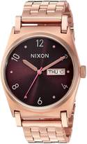 Nixon Women's 'Jane' Quartz Stainless Steel Casual Watch, Color:Rose Gold-Toned (Model: A9542617-00)
