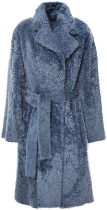 Theory Belted Shearling Coat