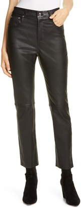 GRLFRND Shiloh Slim Leather Pants