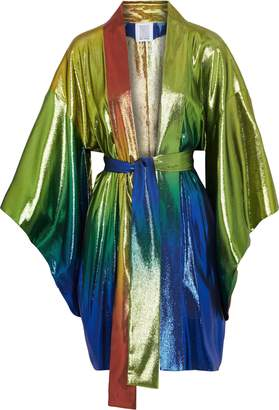 Rosie Assoulin Degrade Silk-blend Lame Kimono