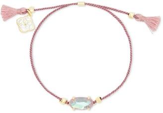 Kendra Scott Everlyne Gold Friendship Bracelet in Blush Dichroic Glass