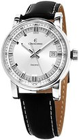 Chronoswiss Grand Pacific Men's Silver Dial Black Leather Strap Automatic Swiss Watch CH-2883B-SI