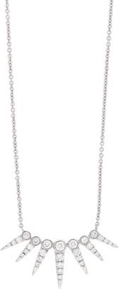 Bony Levy 18K White Gold Monroe Pave Diamond Spike Pendant Necklace - 0.3 ctw