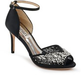 Badgley Mischka opera Embellished Peep Toe Pump