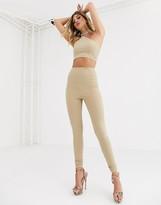 Aym Studio AYM premium double layered leggings in tan