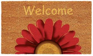 """Sunflower Welcome 17"""" x 29"""" Coir/Vinyl Doormat Bedding"""
