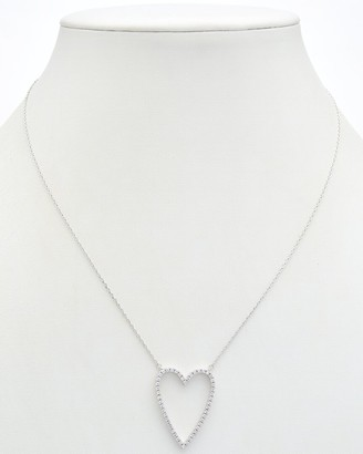 Alanna Bess Limited Collection Silver Cz Heart Necklace