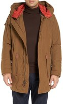 Cole Haan Oxford Military Parka with Detachable Hood
