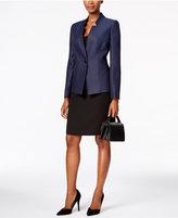 Tahari ASL Tweed One-Button Skirt Suit