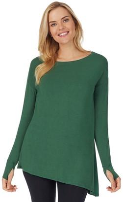 Cuddl Duds Women's Stretch Softwear Long Sleeve Asymmetrical Tunic
