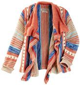 Lucky Brand Striped Open Sweater (Big Girls)