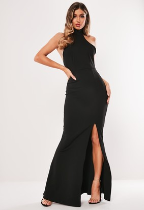 Missguided Petite Black Racer Back Maxi Dress