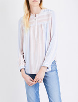 AG Jeans Ladies Pale Terracotta Striped Luxe Jess Blouse