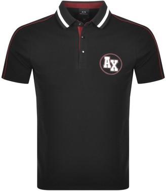 Armani Exchange Short Sleeved Polo T Shirt Black