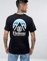 Element Tri Tip Back Logo T-shirt In Black
