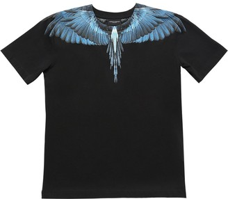 Marcelo Burlon County of Milan Wings Print Cotton Jersey T-shirt