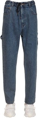 Juun.J Cotton Denim Jeans W/ Drawstring