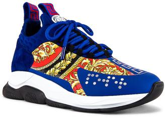 Versace Sneaker in Blue & Multi   FWRD