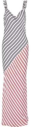Rebecca Vallance Marrakech Paneled Striped Sateen Maxi Dress