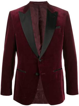 HUGO BOSS satin-trimmed velvet blazer