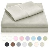 Malouf Double Brushed Microfiber Super Soft Luxury Bed Sheet Set - Wrinkle Resistant - King Size - Sand
