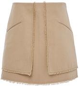 Wes Gordon Doubleface Cotton Twill Gun Flap Skirt