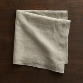 Crate & Barrel Helena Dark Natural Linen Dinner Napkin