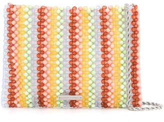 Loeffler Randall Mia beaded clutch bag