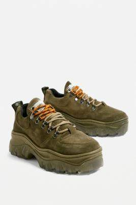 Bronx Jaxstar Chunky Khaki Trainers - green UK 5 at Urban Outfitters