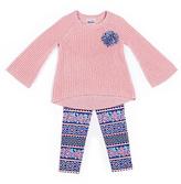 Little Lass Pink & Navy Sweater & Leggings - Toddler & Girls